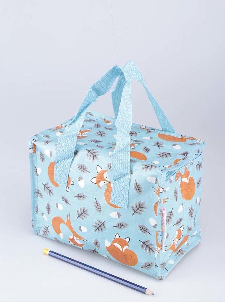Tyrkysová svačinová taška s potiskem lišek Rex Rusty The Fox