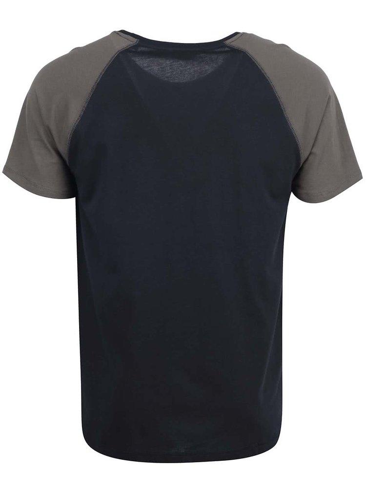 Zeleno-čierne tričko ONLY & SONS Trisdan