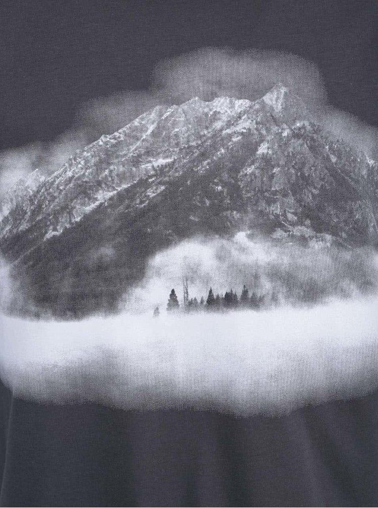 Tmavosivé pánske tričko ZOOT Originál Hora