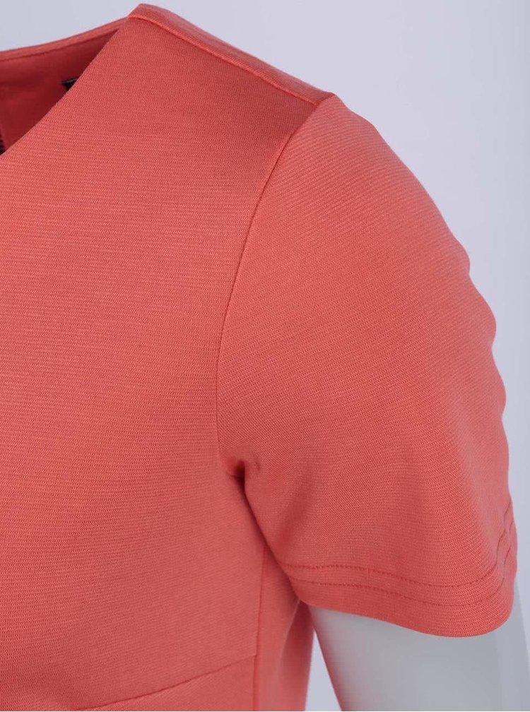 Koralové šaty s krátkym rukávom VILA Tinny