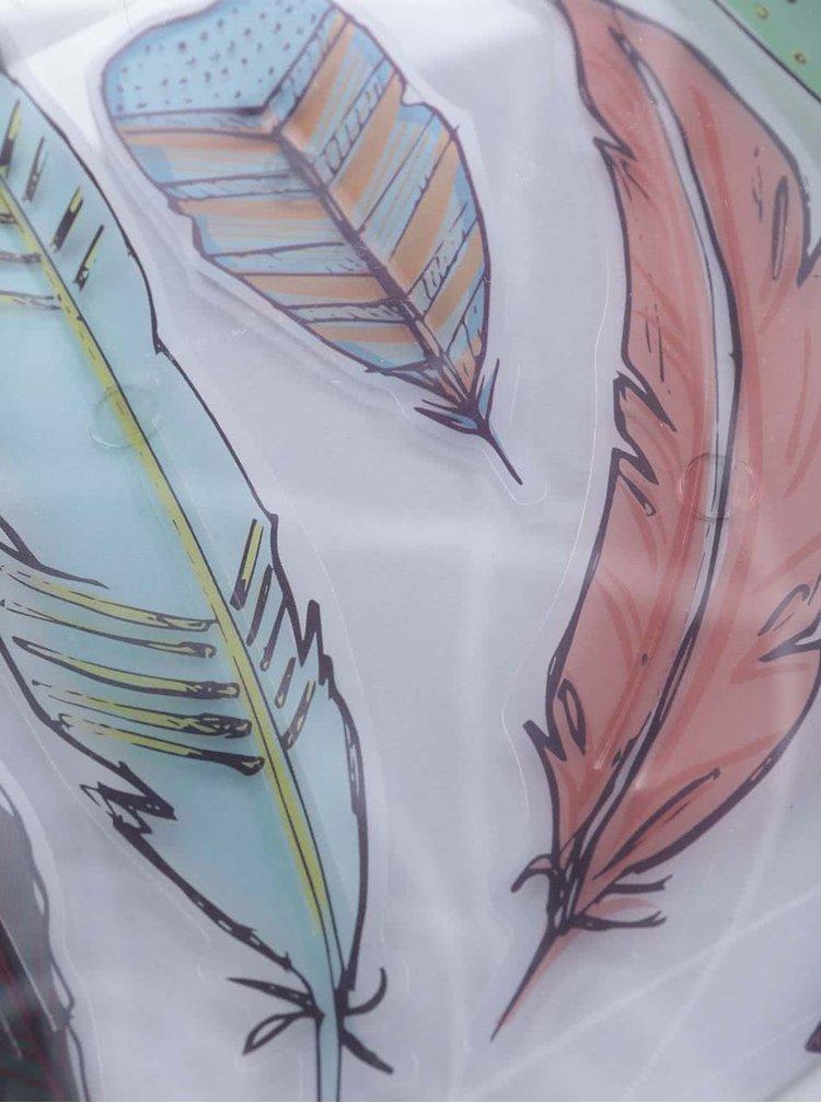 Farebná osemnásťdielna sada nástenných samolepiek Umbra Feather