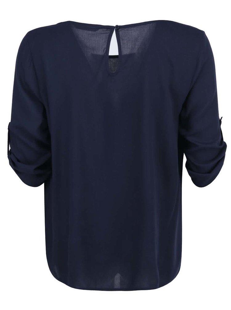 Bluza larga bleumarin cu maneci 3/4 ONLY Geggo