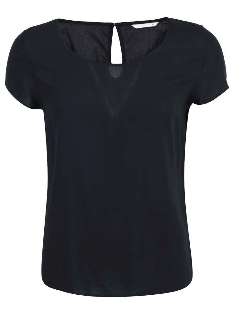 Čierne voľnejšie tričko ONLY Geggo