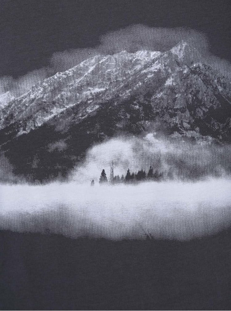 Tmavosivé dámske tričko ZOOT Hora