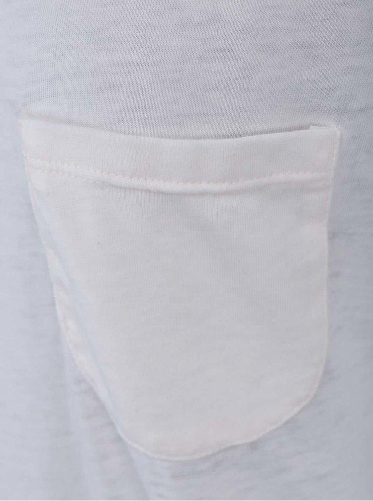 Krémové tričko s vreckom VERO MODA Sofia