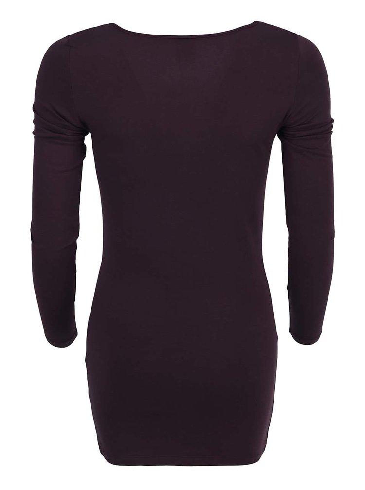 Vínové tričko s dlhým rukávom VERO MODA Maxi My