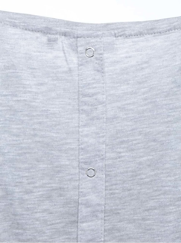 Tricou gri, lung, ONLY Casa