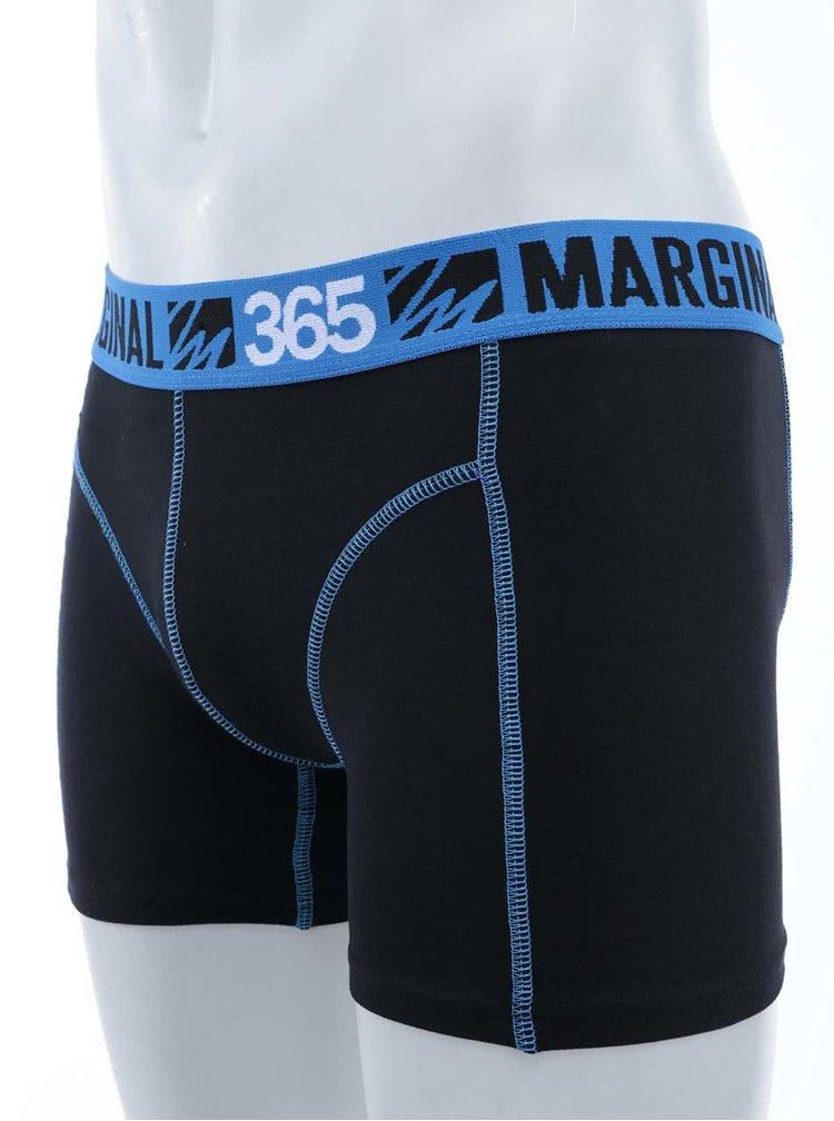 Modro-čierne športové boxerky Marginal