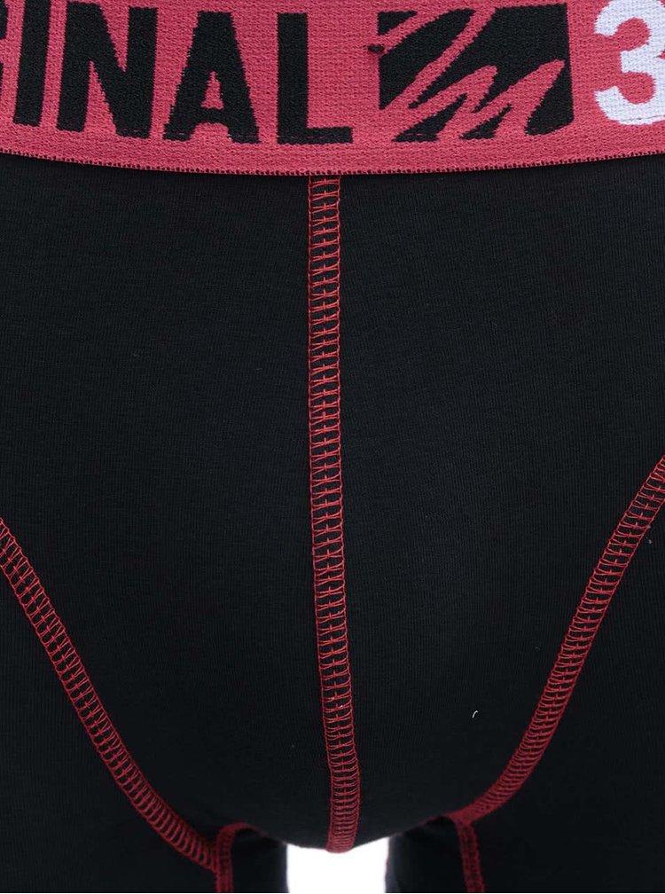 Červeno-černé sportovní boxerky Marginal