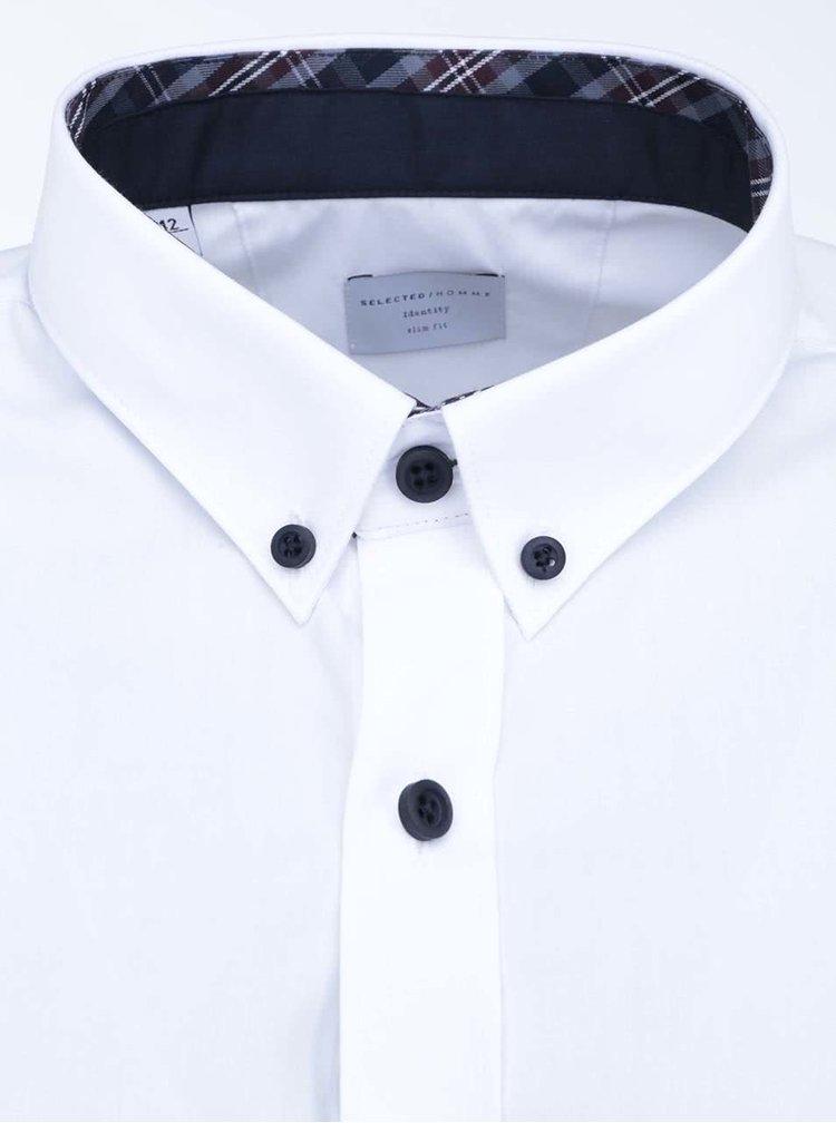 Biela košeľa Selected One Mix Luca Slim Fit