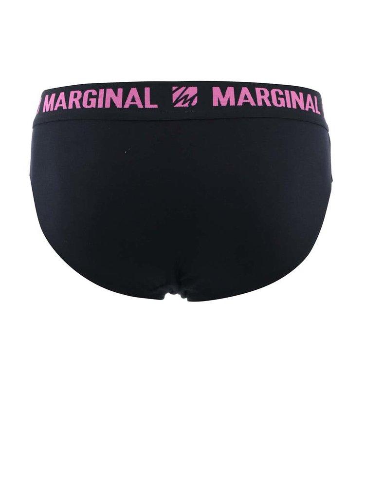 Set de 2 perechi de chiloti Marginal - logo roz/albastru
