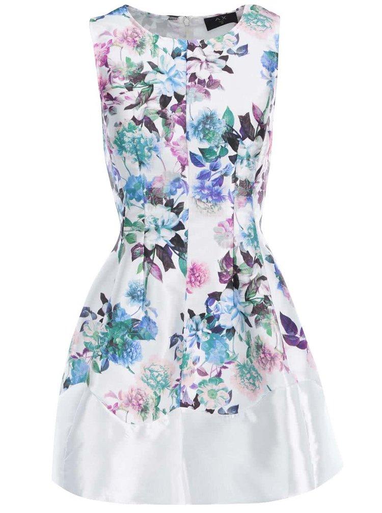 Rochie mini cu model floral, de la AX Paris - albă