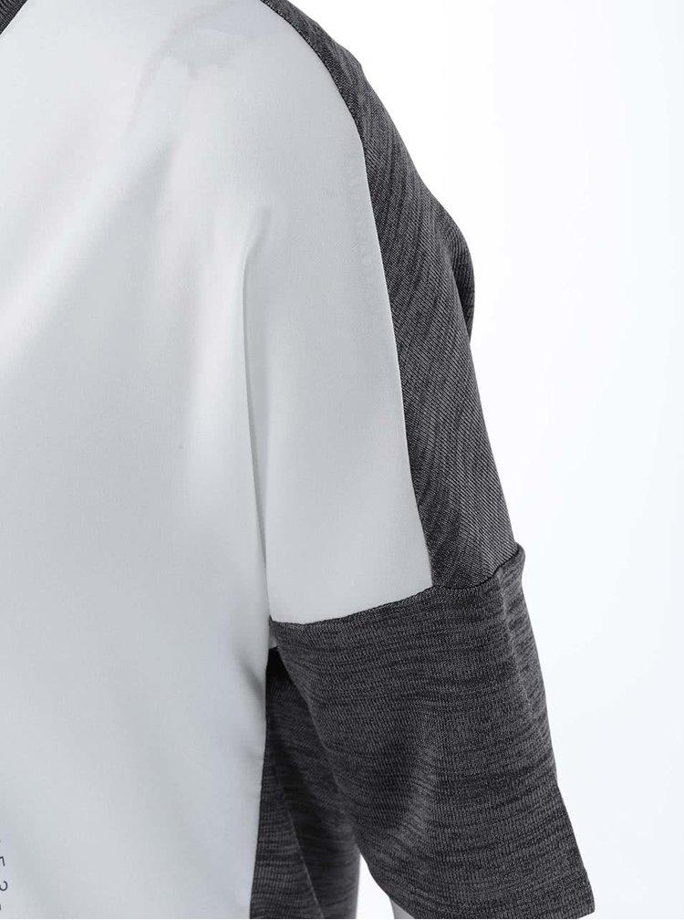 Béžovosivé tričko s potlačou ONLY Cooler