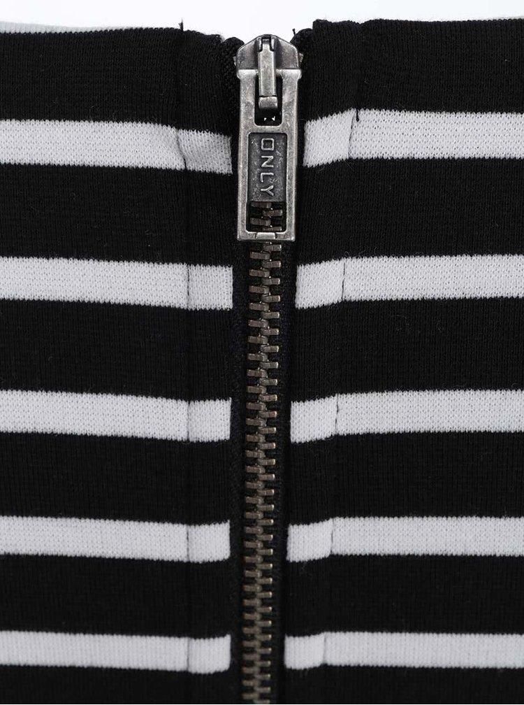Rochie cu dungi albe și negru cu mânecă 3/4 ONLY Emma