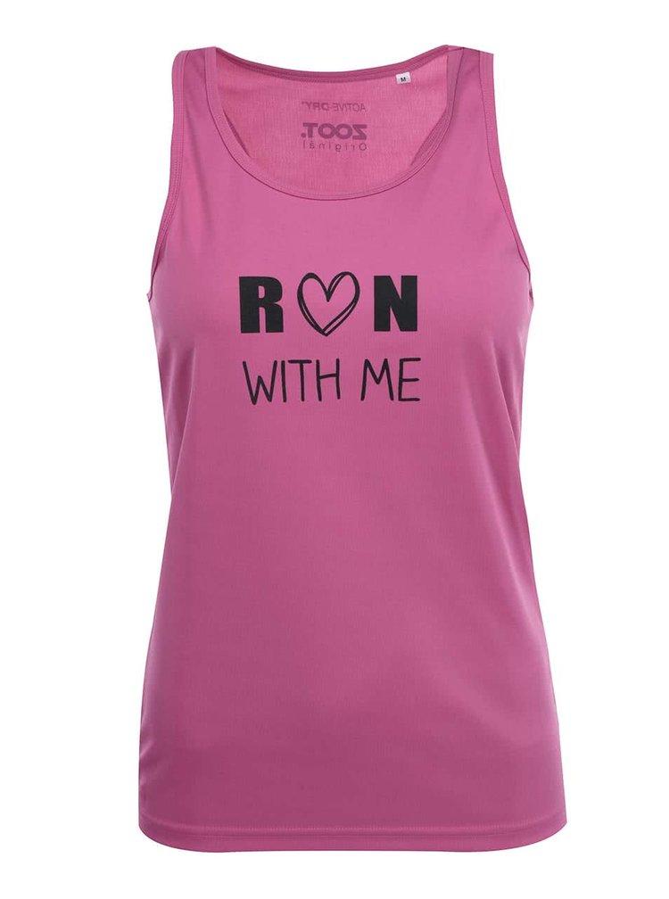 Růžové dámské tílko ZOOT Originál Run With Me