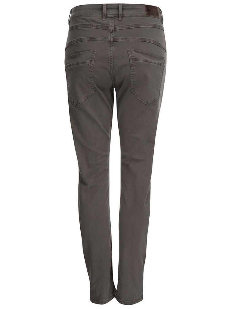Pantaloni ONLY Lise cu talie înaltă - Gri