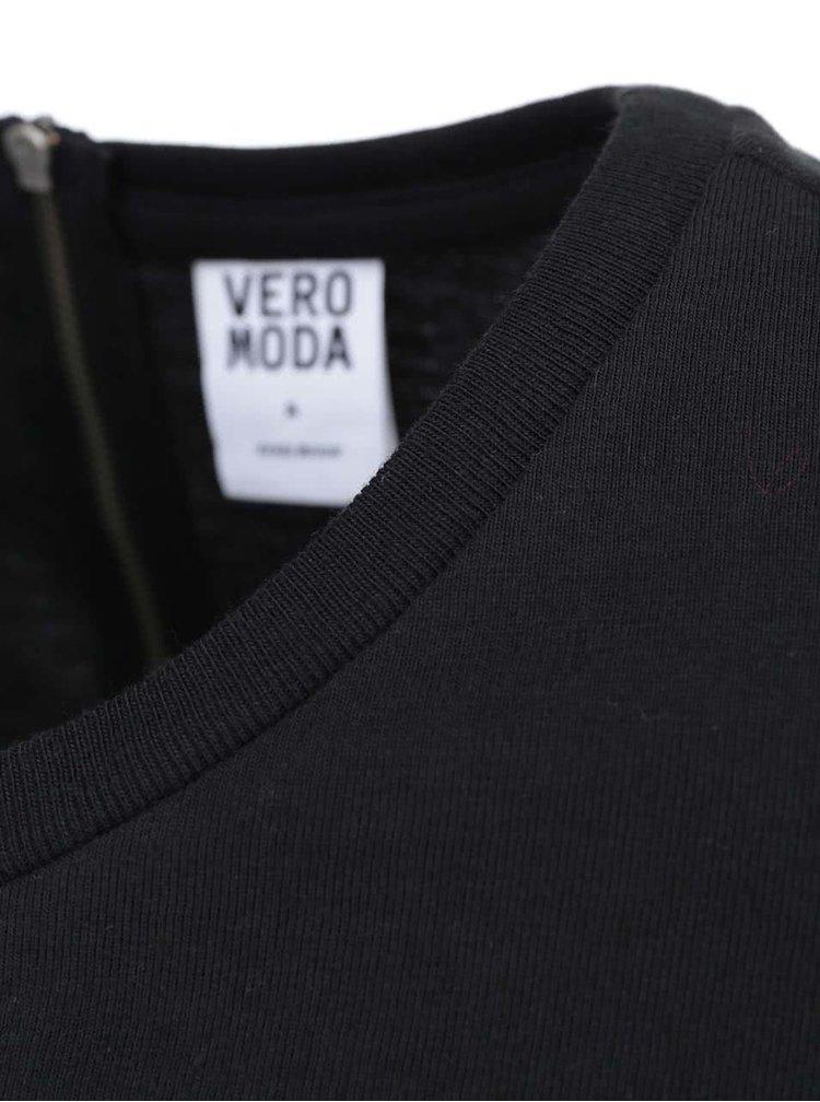 Čierne šaty s 3/4 rukávom VERO MODA Sky