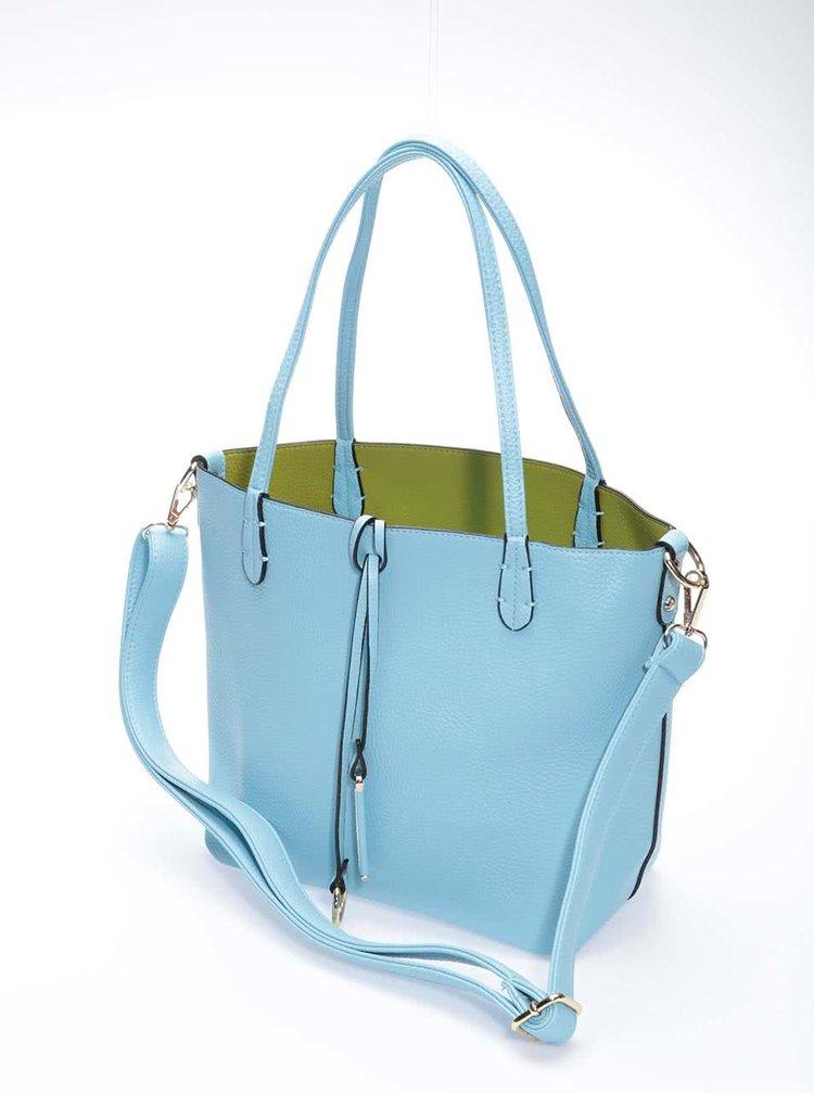 Zeleno-modrá oboustranná kabelka 2v1 Kris-Ana