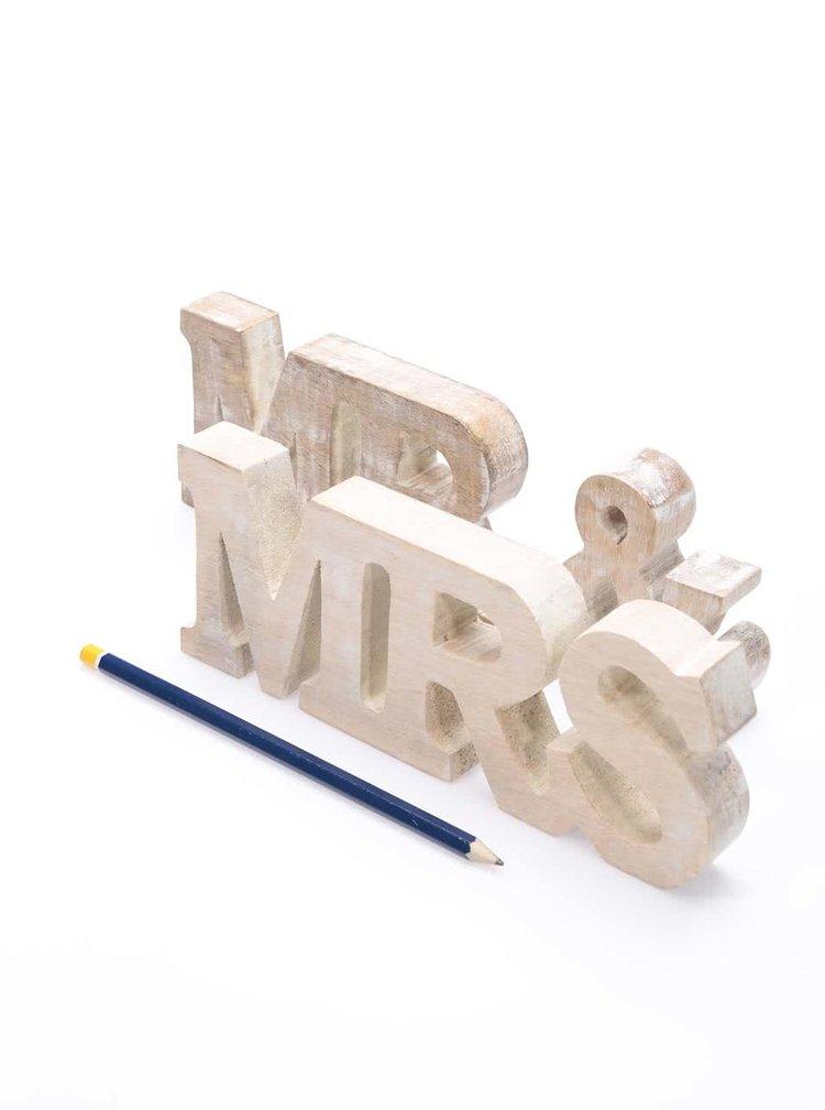 Decoratiune din lemn Sass & Belle Mr. & Mrs.