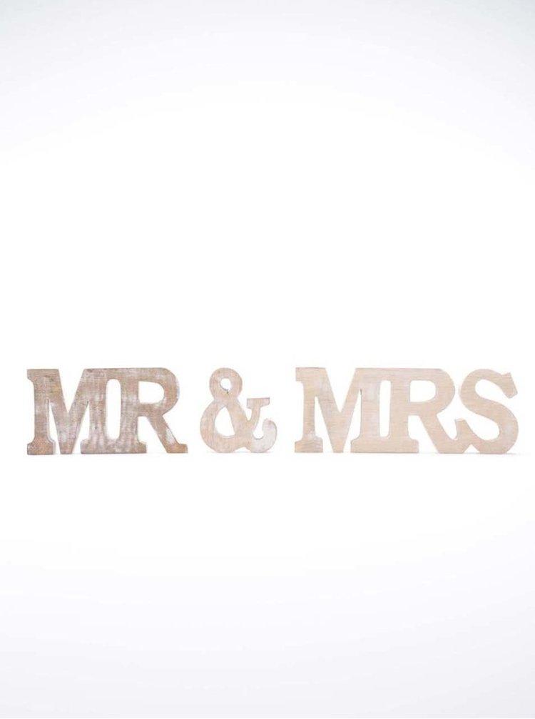 Drevená dekorácia Sass & Belle Mr & Mrs