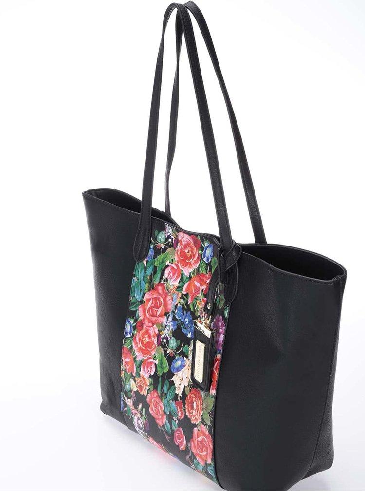 Černý květovaný shopper Steve Madden Shayna