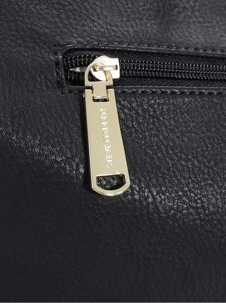 Čierny shopper so strapcami v semišovej úprave Steve Madden Southrn