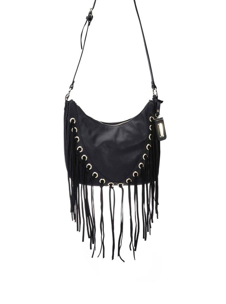 Čierna menšia kabelka so strapcami Seve Madden North