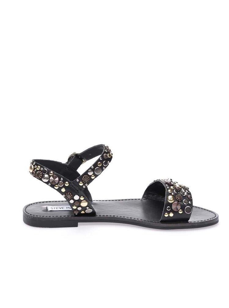 Čierne sandáliky zdobené kamienkami Steve Madden Donddi