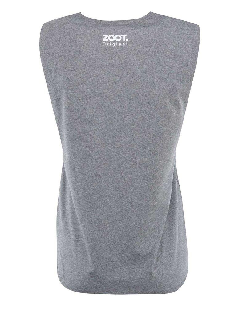 Sivé dámske tričko bez rukávov ZOOT Originál Howgh