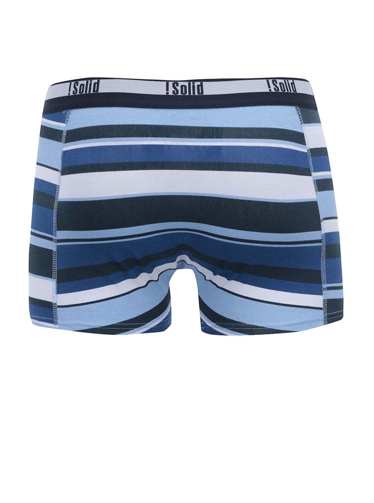 Bílo-modré pruhované boxerky !Solid Orlando