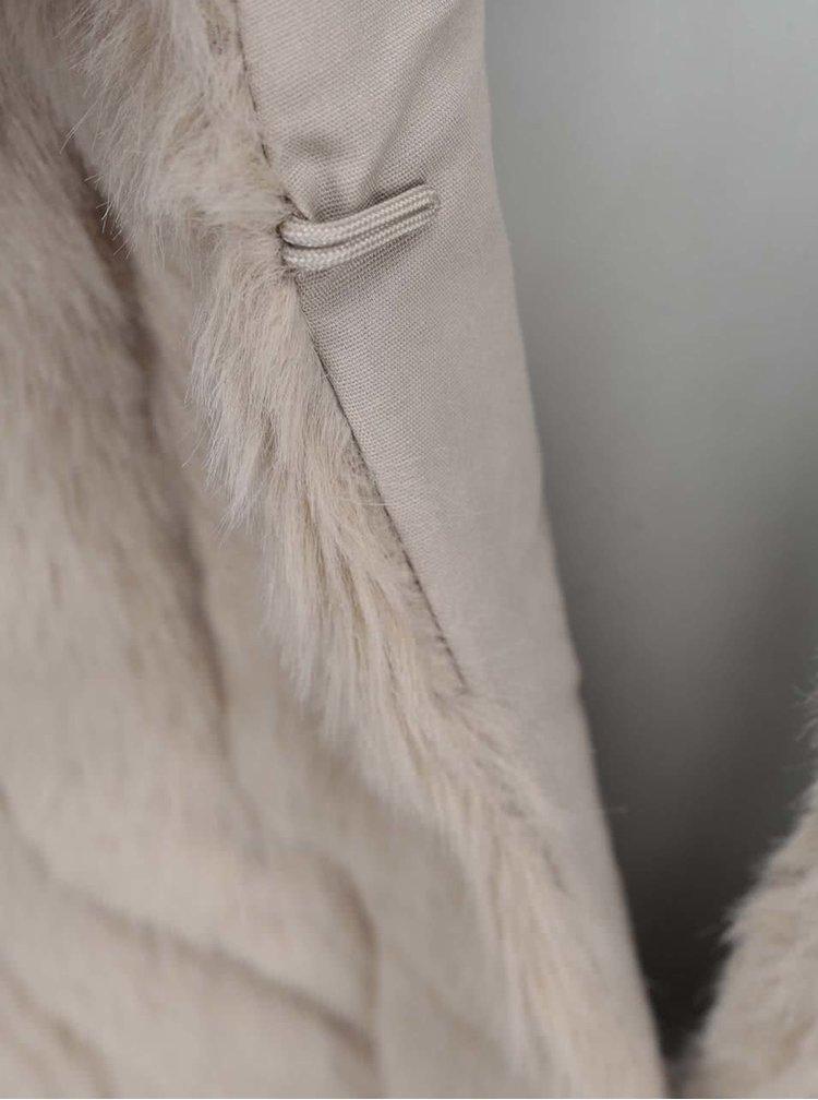 Béžová kožešinová vesta VILA Perla