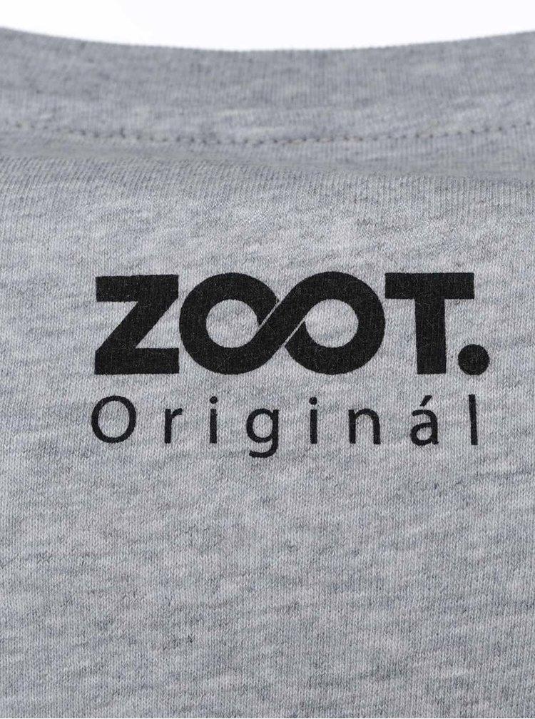 Sivé pánske tričko s potlačou ZOOT Originál Trojuholník