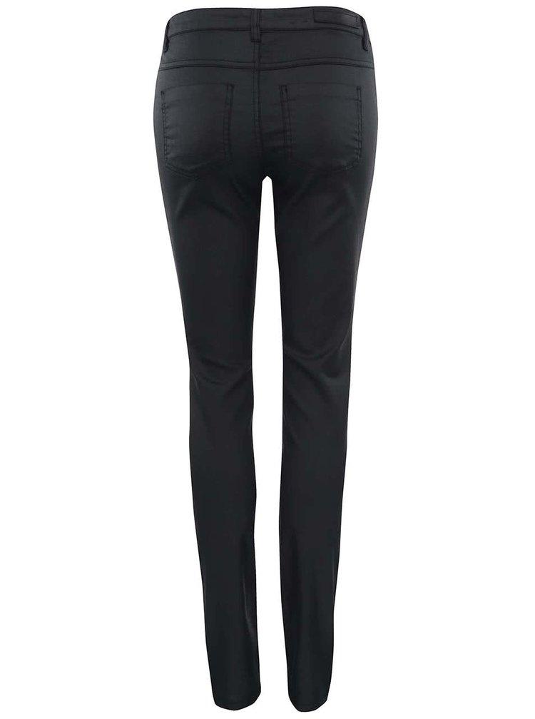 Čierne nohavice s ozdobnými zipsami ONLY New Olivia
