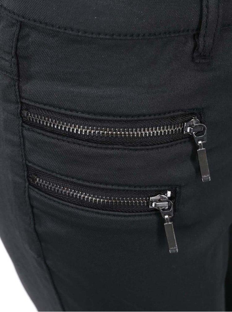 Černé kalhoty s ozdobnými zipy ONLY New Olivia