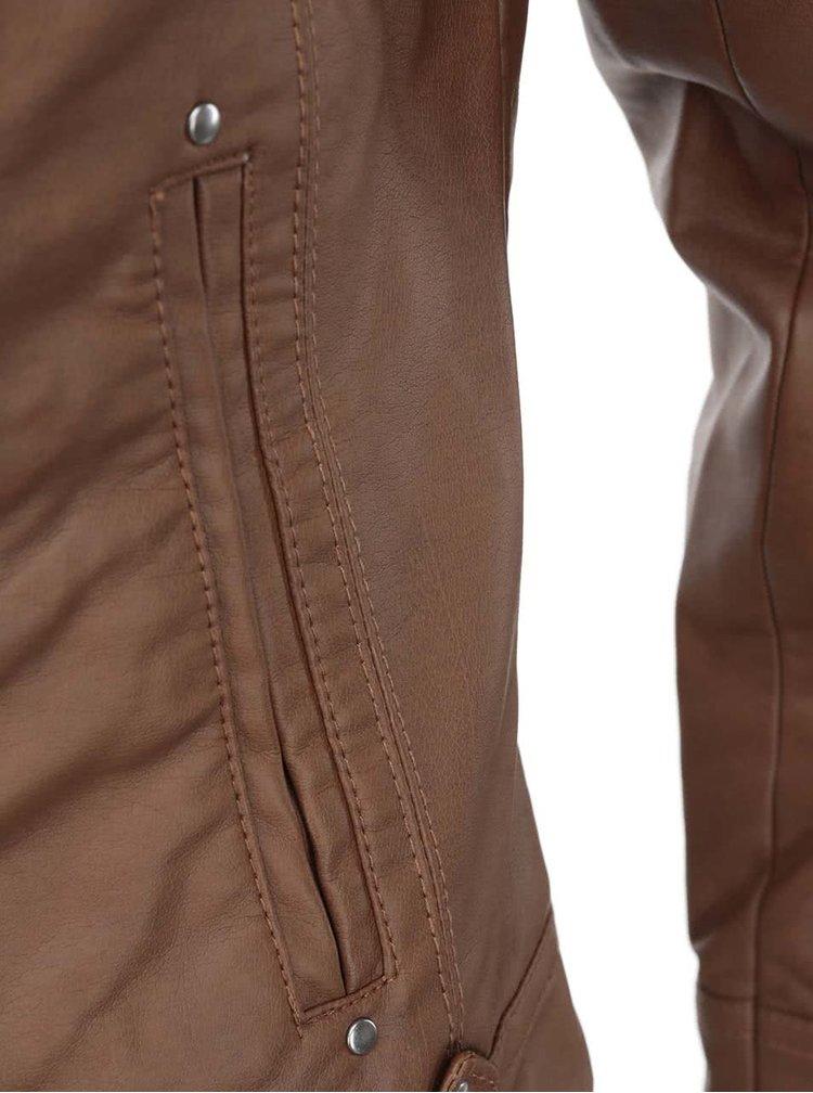 Světle hnědá koženková bunda VERO MODA Dawn
