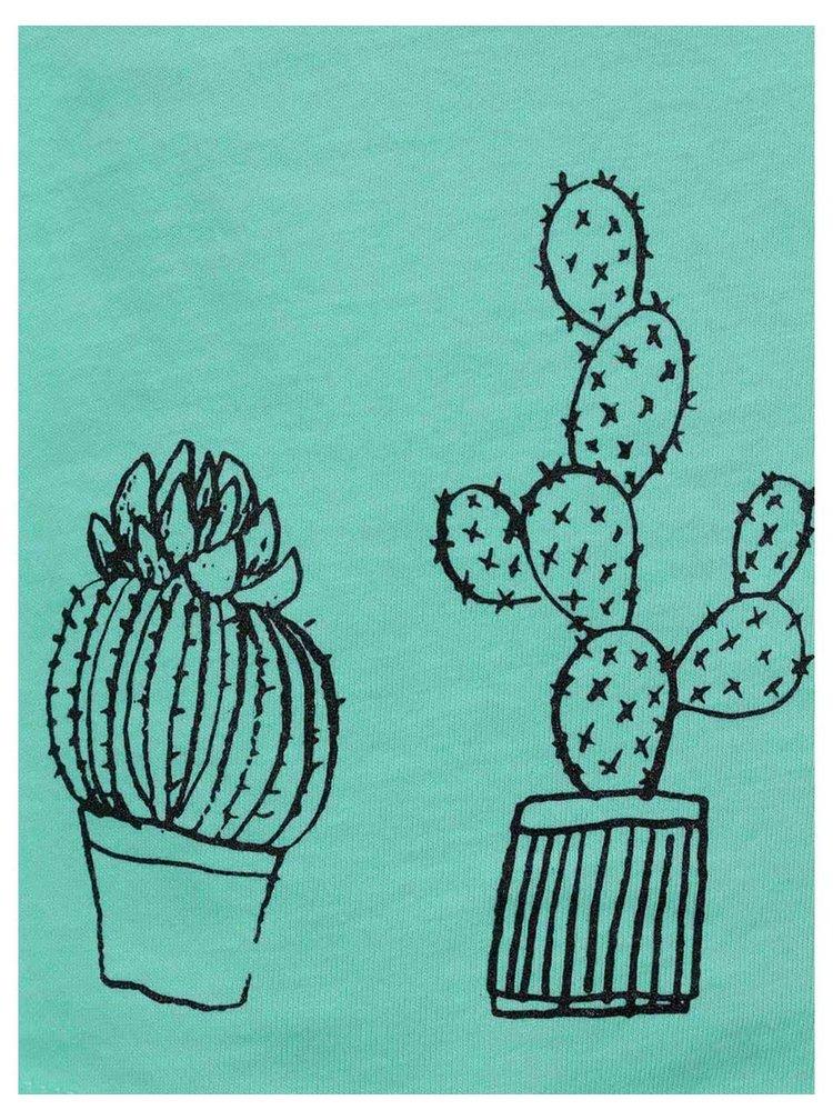 Svetlozelené dámske tielko s potlačou ZOOT Originál Kaktusy