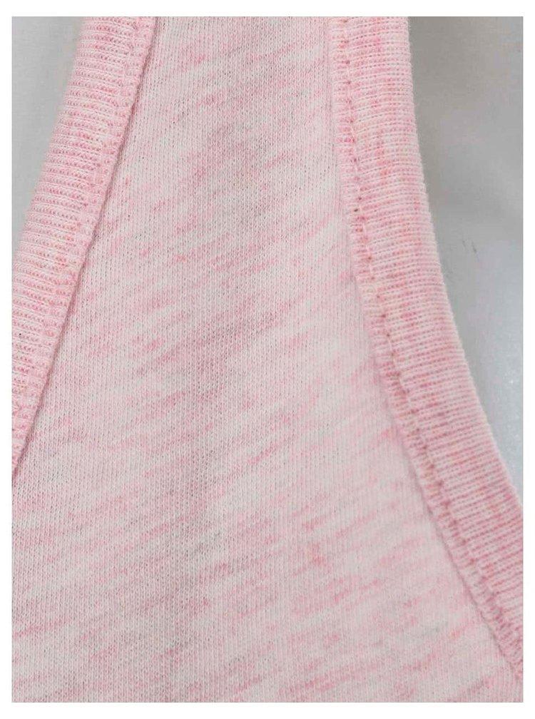 Ružové melírované dámske tielko ZOOT Originál Srdce a šíp