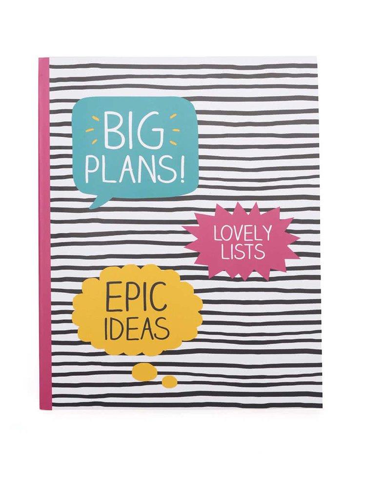 Farebný pruhovaný zápisník Happy Jackson Big Plans