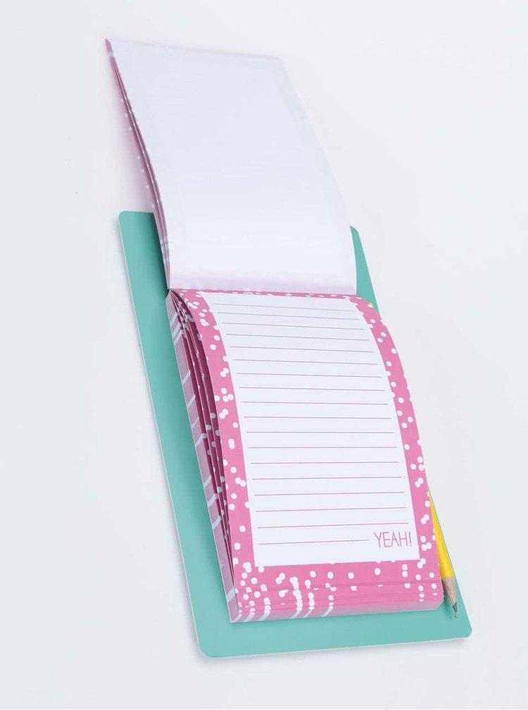 Magnetický poznámkový blok s ceruzkou Happy Jackson Fridge Jotter