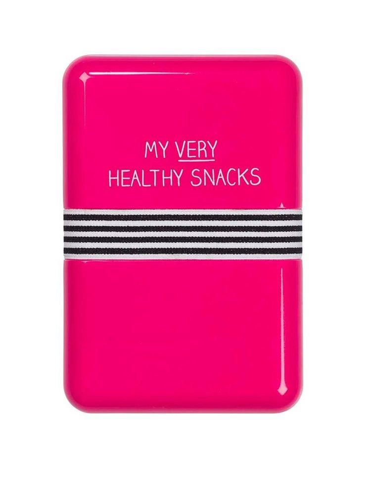 Ružový desiatový box Happy Jackson Healthy Snacks