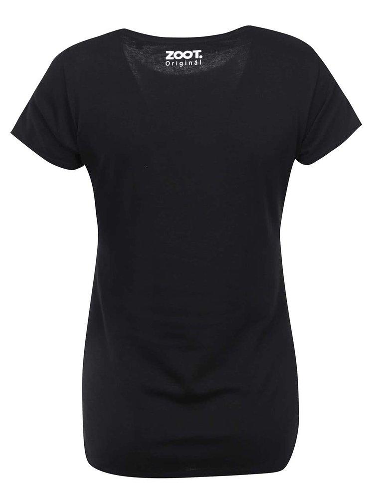 Čierne dámske tričko ZOOT Originál 24 Hours