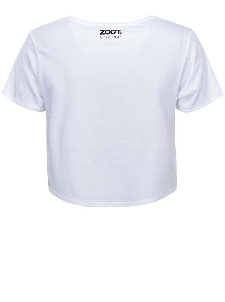 Bílé dámské tričko ZOOT Originál Líbání