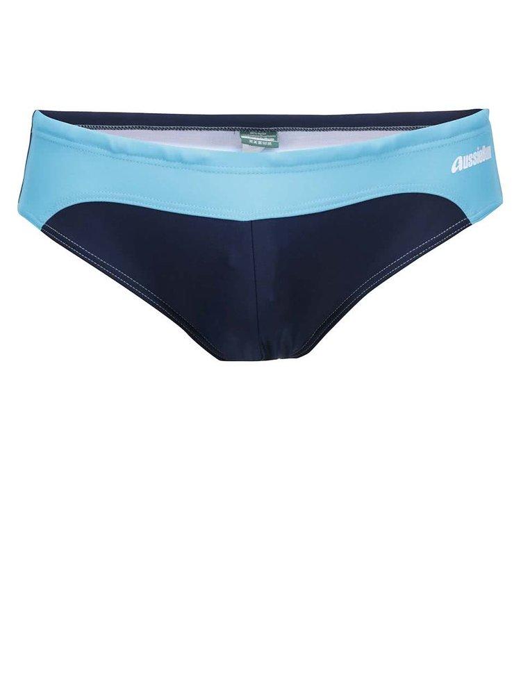 Modro-tyrkysové plavky klasického střihu aussieBum Airlie