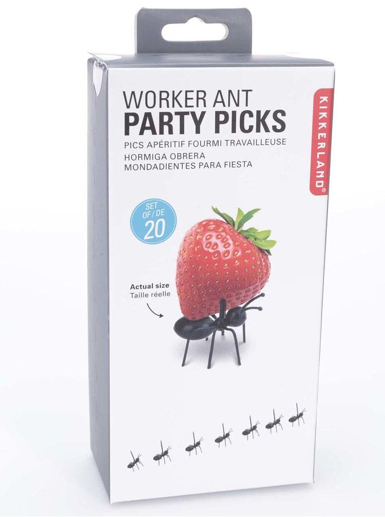 Sada dvaceti napichovátek ve tvaru mravenců Kikkerland