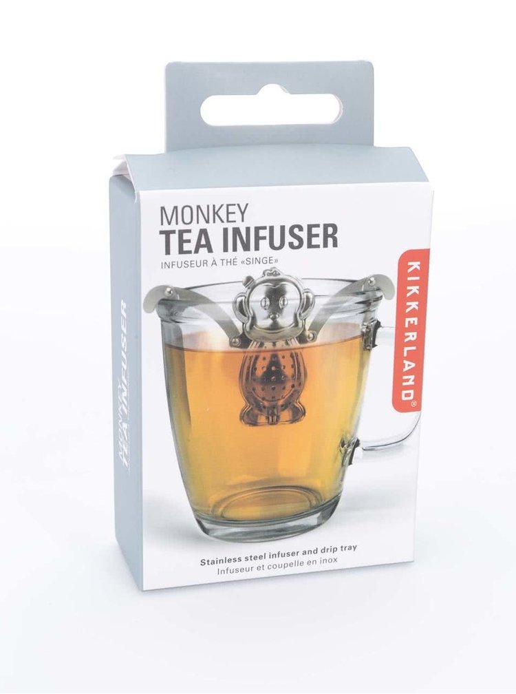 Ocelové sítko na čaj ve tvaru opice Kikkerland