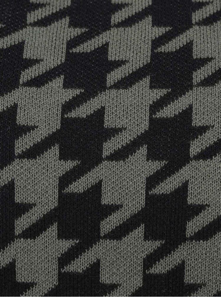 Čierno - zelený sveter s kohúťou stopou Jack & Jones Star