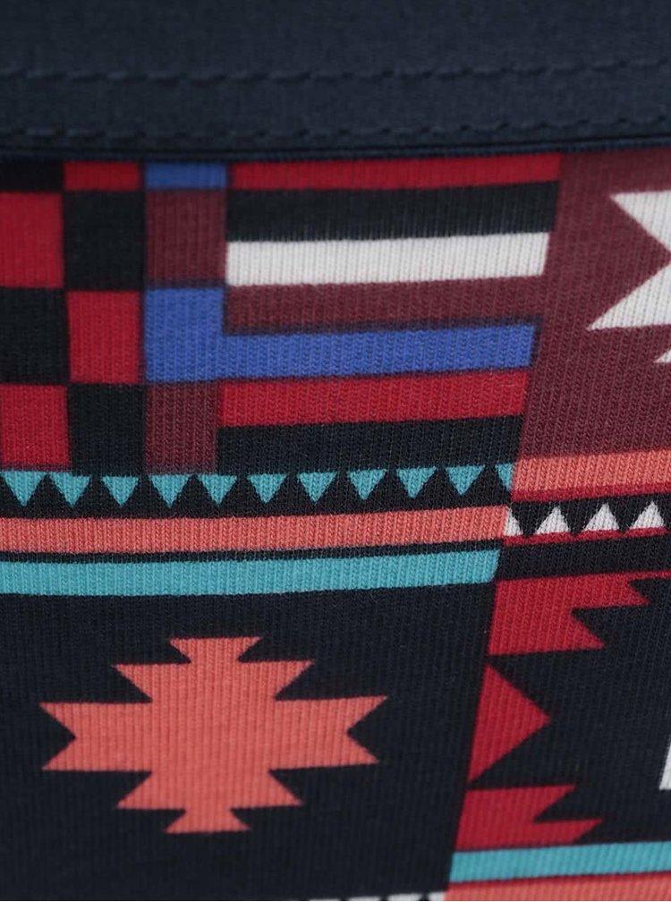 Modro-červené vzorované kalhotky Happy Socks Patch Inca