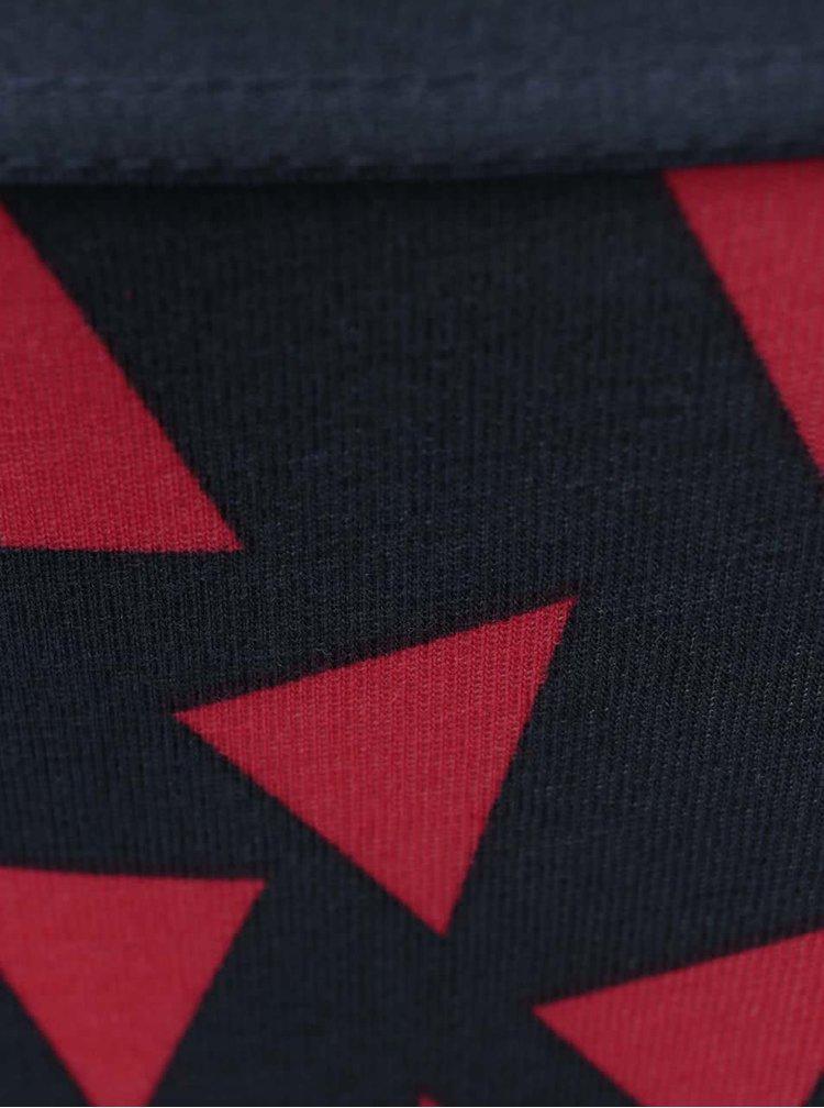 Tmavomodré nohavičky s červenými trojuholníkmi Happy Socks Random Triangle