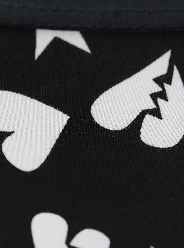 Bílo-černé kalhotky se vzorem Happy Socks Punk Love
