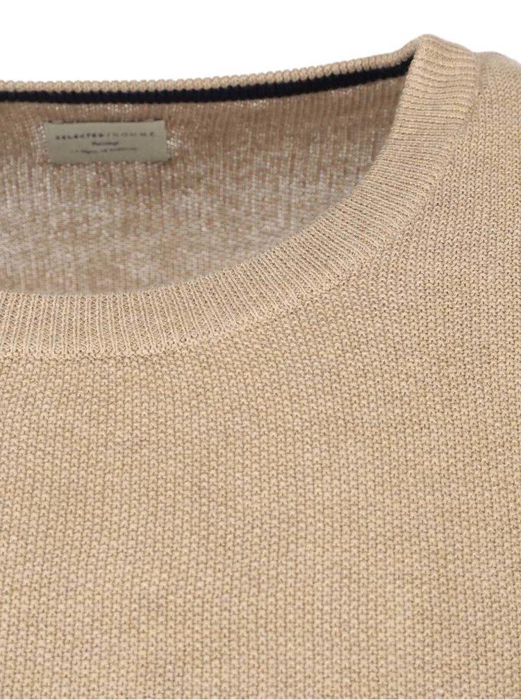 Béžovy sveter Selected Homme Anton